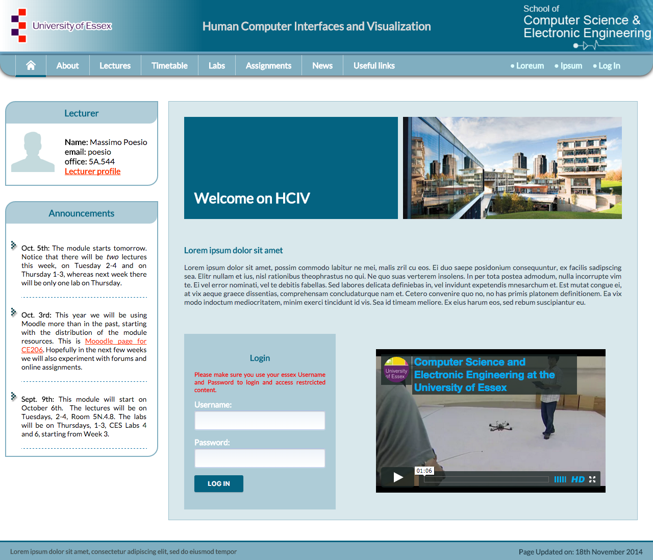 Essex Uni. HCIV website